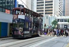 Скрещивание улицы в Гонконге Стоковая Фотография