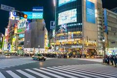 Скрещивание Shibuya один из самых занятых crosswalks в мире стоковое фото rf