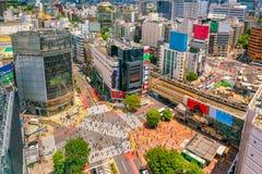 Скрещивание Shibuya от взгляд сверху стоковое фото rf