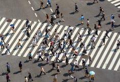 Скрещивание Shibuya от взгляд сверху стоковые фото
