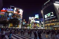 Скрещивание Shibuya, токио стоковые фотографии rf