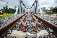 Скрещивания железной дороги и моста Стоковые Изображения