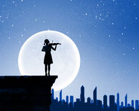 Скрипач женщины стоковое фото rf