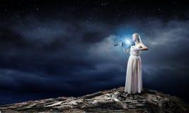 Скрипач женщины Стоковая Фотография RF