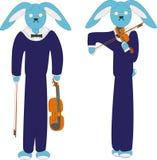 Скрипач зайцев Иллюстрация вектора