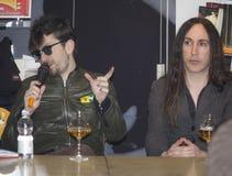 Скрипач и руководитель рок-группы Afterhours Стоковые Фото