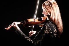 Скрипач музыканта игрока скрипки классический Стоковое Изображение