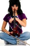 скрипач совершителя нот Стоковая Фотография RF