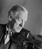 скрипач старшия портрета музыканта Стоковая Фотография