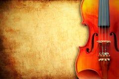 скрипка бумаги grunge предпосылки Стоковые Фото