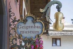 Скрипка делая музей в Mittenwald Стоковое Изображение RF