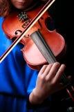 Скрипка играя музыкант скрипача Стоковое Изображение