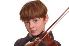 скрипка игрока Стоковое Фото