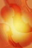 скрипка красного цвета нот предпосылки Стоковая Фотография RF