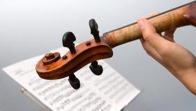 скрипка музыканта Стоковая Фотография