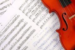 скрипка нот книги стоковое изображение