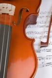 скрипка нот Стоковое фото RF