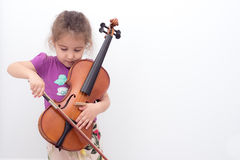 Скрипка ребенк Стоковые Фотографии RF