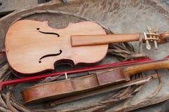 скрипка старая Стоковые Изображения