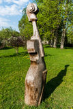 Скрипка, статуя виолончели Стоковое Фото