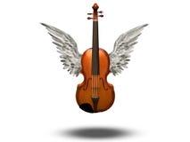 Скрипка с крылами иллюстрация штока