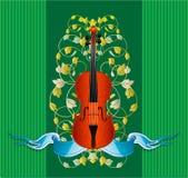 скрипка тесемки бесплатная иллюстрация