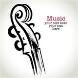 Скрипка чертежа Grunge с brushwork Стоковые Фото