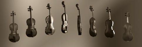 скрипка 360 градусов Стоковая Фотография
