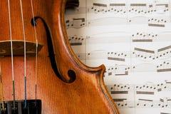 скрипка Стоковая Фотография