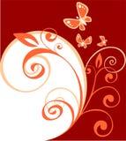 скручиваемости бабочек флористические иллюстрация вектора