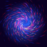 Скручиваемости Cosmo светят свету с красным, голубым цветом и формой желтого цвета спиральной Стоковые Изображения RF