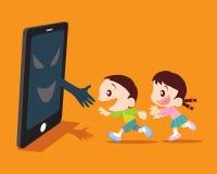Скрытое бедствие от иллюстрации концепции smartphone Стоковое Изображение RF