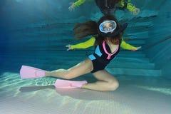 скуба женщины водолаза Стоковое Изображение