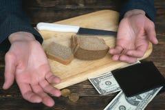 скудость задолженности сбережения стоковые изображения