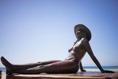 Скульптура Австралия духа Солнця Стоковые Изображения