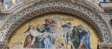 Скульптура Базилики di Сан Marco в Венеции, Италии Стоковое Фото