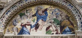 Скульптура Базилики di Сан Marco в Венеции, Италии Стоковое фото RF