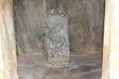 Скульптура бога змея Naga на виске Hoysaleswara Стоковые Изображения