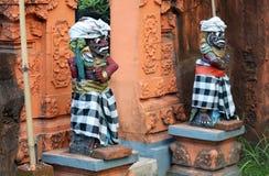 Скульптура виска на Бали Индонезии, индонезийской религиозной архитектуре стоковые изображения