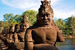 Скульптура в Angkor Стоковое Изображение
