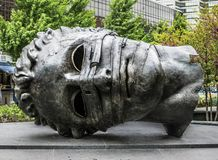 Скульптура головы Greco гиганта сада города Сент-Луис Стоковые Фотографии RF