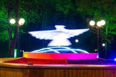 Скульптура голубя на квадрате Festivalny, Сочи, России Стоковая Фотография RF