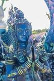 Скульптура диких животных Himavanta на виске Wat Rong Suea 10, Chiang Rai, Таиланде Himavanta легендарный лес который s Стоковая Фотография