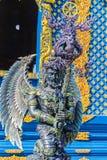 Скульптура диких животных Himavanta на виске Wat Rong Suea 10, Chiang Rai, Таиланде Himavanta легендарный лес который s Стоковые Изображения RF