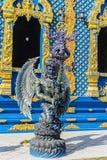 Скульптура диких животных Himavanta на виске Wat Rong Suea 10, Chiang Rai, Таиланде Himavanta легендарный лес который s Стоковое Изображение RF