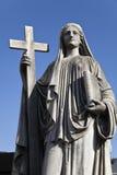 Скульптура женщины на кладбище recoleta Стоковое фото RF