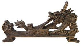 скульптура изолированная драконом востоковедная Стоковое фото RF