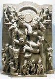 Скульптура Индия Maheshwar Умаа каменная стоковое изображение