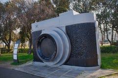 Скульптура камеры празднуя Frederico Fellini Стоковые Фото