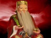 Скульптура китайского мудрого человека стоковые изображения rf